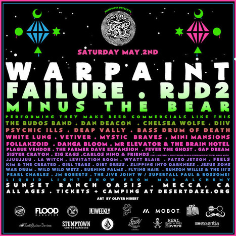 Desert Daze 2015 - Lineup Includes Warpaint, Failure, RJD2, Minus The Bear, Dan Deacon, Chelsea Wolfe, The Budos Band, DIIV, White Lung & Many More | Ellenwood | MUSIC NEWS | Scoop.it