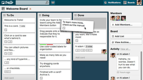 Trello Makes Project Collaboration Simple and Kind of Enjoyable | Collaborative Tools | Scoop.it
