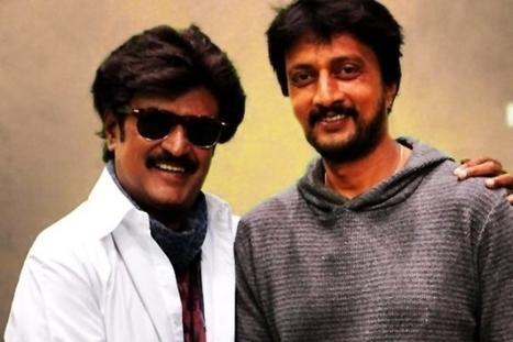 Sudeep meet Rajinikanth in Lingaa Movie shooting | Bangalore Wishesh | Scoop.it