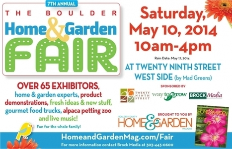 Boulder Home and Garden Fair is now May 16th   trwindowservices   Scoop.it