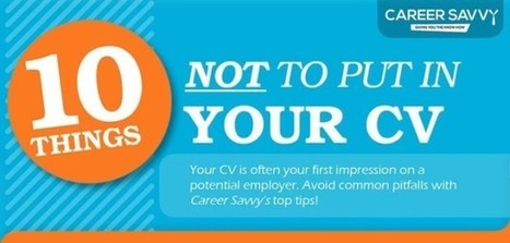 Resume Infographic: 10 Things Not To Put In Your Resume | digital marketing strategy | Scoop.it