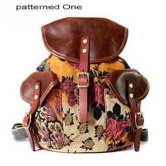 Tribal inspired patterned canvas backpack |shool backpacks for girls from Vintage rugged canvas bags | Collection of backpack | Scoop.it