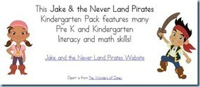 Jake & the Never Land Pirates Kindergarten Printables | Kindergarten | Scoop.it