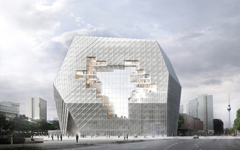 Ole Scheeren proposes COLLABORATIVE CLOUD for Axel Springer HQ - designboom | architecture & design magazine | The Architecture of the City | Scoop.it