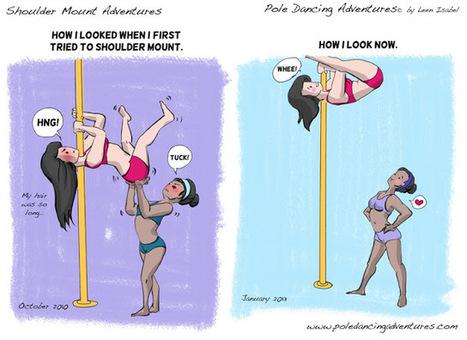 Pole Dancing Adventures (PDA) - The Original Webcomic Series: Shoulder Mount Adventures   PoleDance   Scoop.it