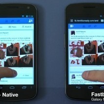 Fastbook démontre les bénéfices de HTML5 face aux applis natives Facebook | Lectures web | Scoop.it