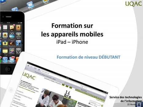 S'approprier l'iPad rapidement | MFEG | Scoop.it