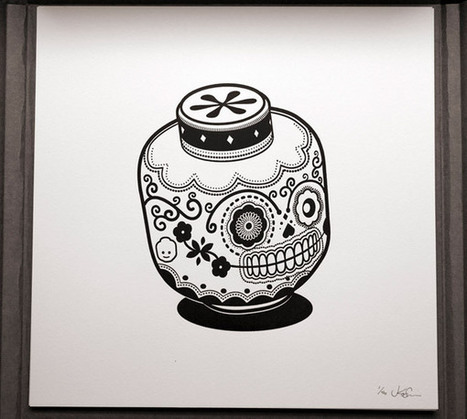 Geeky Icons Get an Awesome Sugar Skull Treatment #art #drawing #illustration #skulls #icons | Helene Michau Créations | Scoop.it