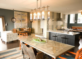 Kitchen of the Week: Navy and Orange Offer Eclectic Chic in California | HOMEspaces | Scoop.it