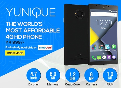 YU Yunique – The World's Most Affordable 4G HD Smartphone | Maxabout Mobiles | Scoop.it
