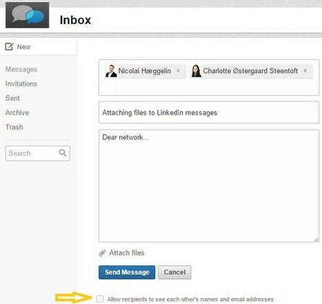 Attaching files to LinkedIn messages | Digital Works | LinkedIn | Scoop.it