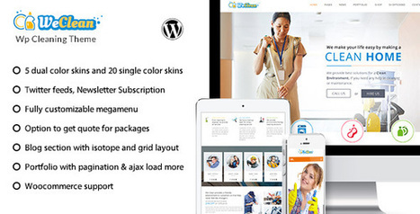 We Clean - Cleaning Company Wordpress Theme (Miscellaneous) Download   Wordpress Themes Download   Scoop.it