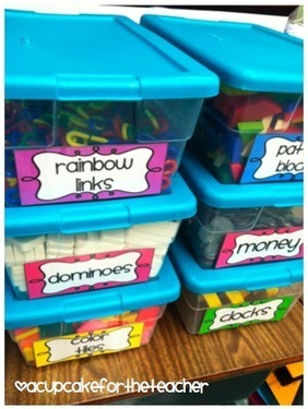 A Cupcake for the Teacher: Organize Your Math Manipulatives!   STEM and education   Scoop.it