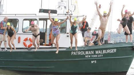 Swimmers tackle Hudson, brave Tappan Zee Bridge construction - The Journal News | LoHud.com | Swimmingly Yours | Scoop.it