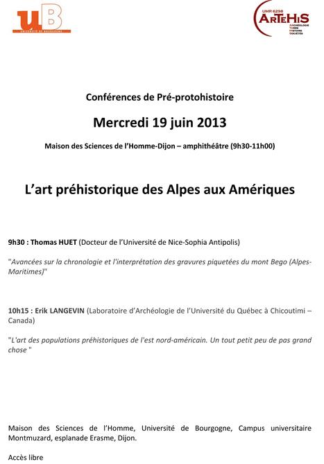 Mercredi 19 juin : Conférences de Pré-Protohistoire MSH Dijon | Mégalithismes | Scoop.it