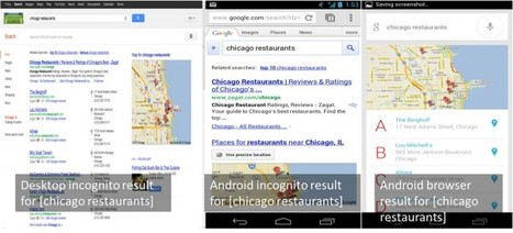 16 Differences Between Google Mobile & Desktop Search Results In 2012 | SEO Daily Dose | Scoop.it