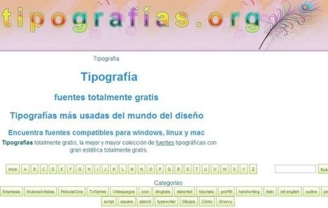Tipografías, miles de fuentes de texto de calidad para descargar gratis | Las TIC y la Educación | Scoop.it