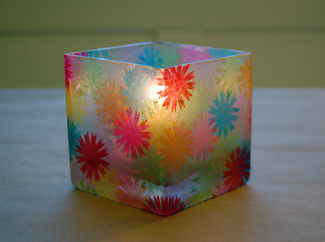 "How-To: ""Stained Glass"" Votive Holders 