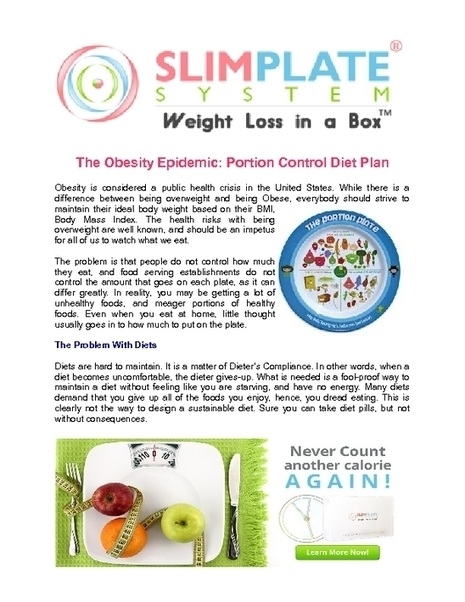 Portion Size Plates - PDF | Slimplate System | Scoop.it