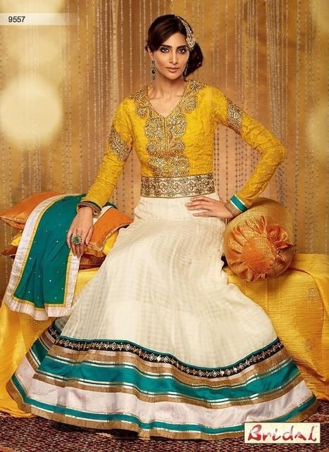 Fashion Week Collection: Work Anarkali Salwar Kameez | hamzamughal | Scoop.it