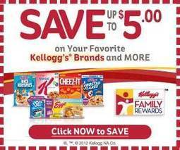 Kellogg's Family Rewards - 50 Point Code - Get high-value coupons! - Couponaholic | Senior Discounts | Scoop.it