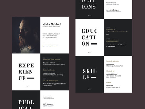 50 Inspiring Resume Designs: And What You Can Learn From Them | Canva | Public Relations & Social Media Insight | Scoop.it