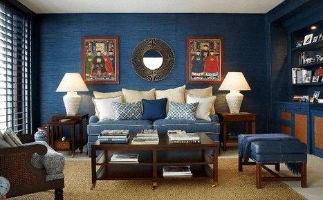 Χρώμα Indigo: Πώς να ενσωματώσετε αυτό το Moody Blue χρώμα στο σπίτι σας. | Interior Design | Scoop.it