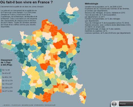 Où fait-il bon vivre en France ? | CADRES SENIORS ET CHEFS D'ENTREPRISE EN REBOND | Scoop.it
