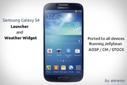 Galaxy S 4 Weather Widget and Launcher on all JB Devices | Android Discussions | Scoop.it