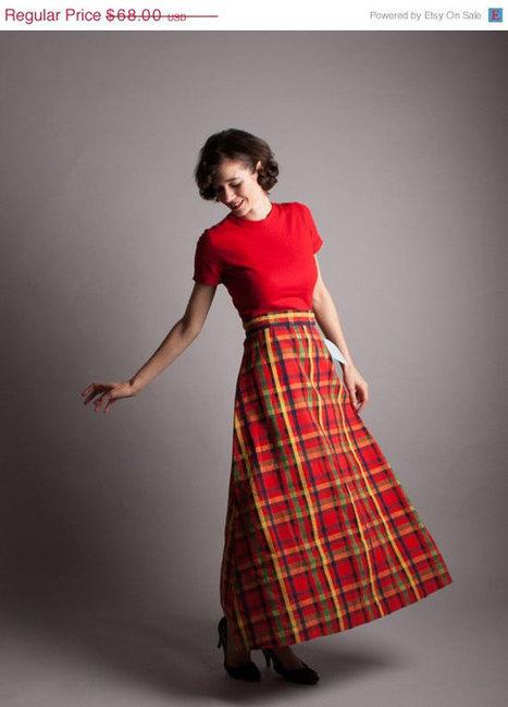 70s Plaid Maxi Skirt | All things Fashion Print | Scoop.it