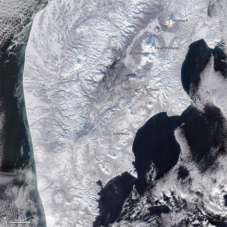 Snow and Volcanoes on Kamchatka : Image of the Day | Geoinformation | Scoop.it