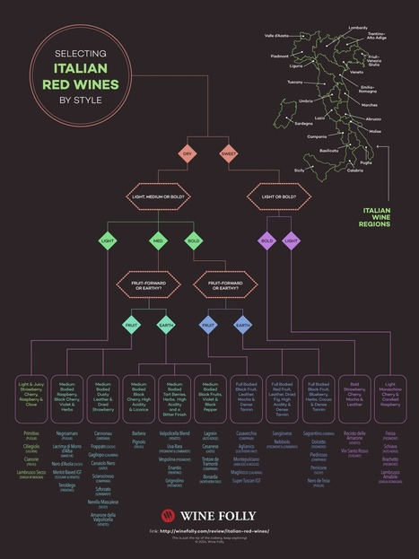 A Flow Chart to Selecting Italian Red Wines | Wines and People | Scoop.it