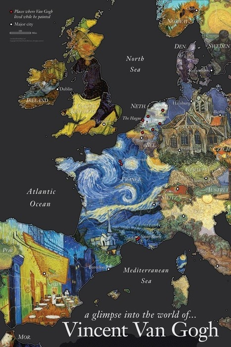 Fusing Fine Art with Cartography | GeoLounge | Cartography | Scoop.it