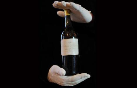 Bottle of white wine sets world record price | @zone41 Wine World | Scoop.it
