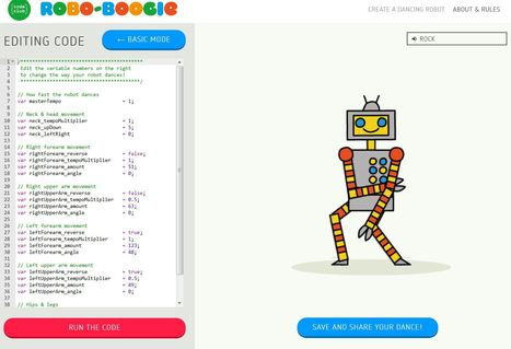 Create a dancing robot : Code Club | talkprimaryICT | Scoop.it