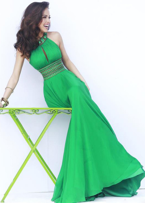 Long Emerald Beaded High Neck Open Back Prom Dresses 2014 [Long Emerald Prom Dress] - $281.00 : Hot Sale Prom Dresses & Homecoming Dresses For Cheap | long prom dresses | Scoop.it