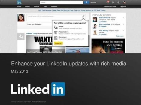 LinkedIn ahora permite adjuntar documentos e imágenes a ... | Social Media | Scoop.it