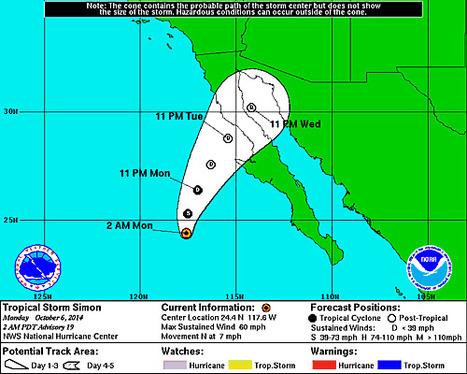 Tropical Storm SIMON   Cabo San Lucas   Scoop.it
