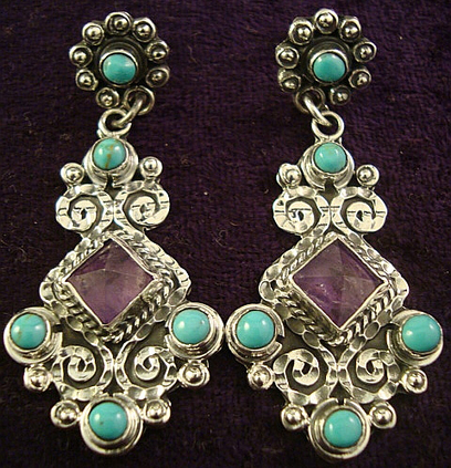 The Painter Earring Set | Taxco.925 Mexican Silver Store | Scoop.it