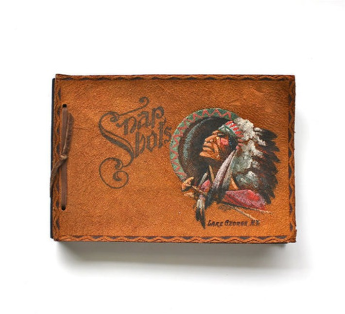 Keep Your Snap Shots  Vintage Snap Shots Leather Bound by becaruns | Antiques & Vintage Collectibles | Scoop.it