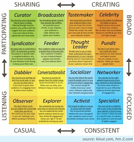 What Kind of Online Influencer Are You? The Klout Influence Matrix | Content Marketing Tips | Scoop.it