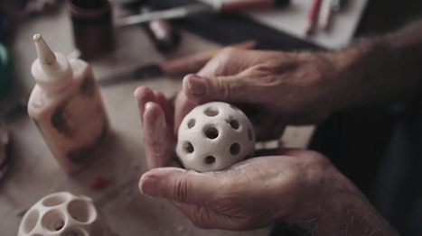A Retired Chemistry Teacher Merges Art and Science by Sculpting Porcelain Objects Inspired by Molecules | Colossal | Art-STEM Connections | Scoop.it