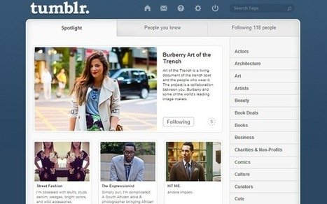 Tumblr splits its successful Fashion into more specialized verticals and partners with Burberry | Content Marketing & Content Curation Tools For Brands | Scoop.it