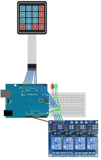 Arduino and Relays and a Keypad | lathama.net | Arduino&Raspberry Pi Projects | Scoop.it