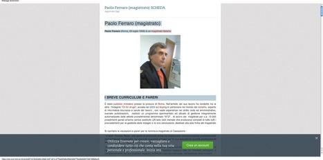 vicenda del magistrato paolo ferraro - cdd grande discovery - Blogger | Paolo Ferraro magistrato CDD | Scoop.it