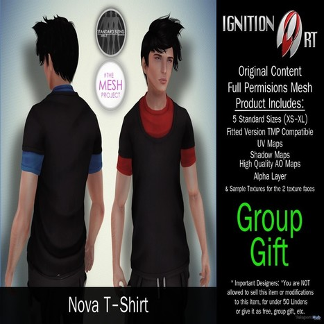 Nova TShirt August 2015 Group Gift by Ignition Art | Teleport Hub - Second Life Freebies | Second Life Freebies | Scoop.it
