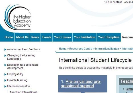 International Student Lifecycle Resources Bank | The EAP Practitioner | Scoop.it