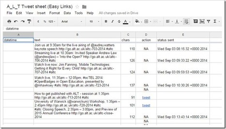 TwtrService Example: EasyTweetSheet (lets you send tweets from Google Sheet) | desktop liberation | Scoop.it