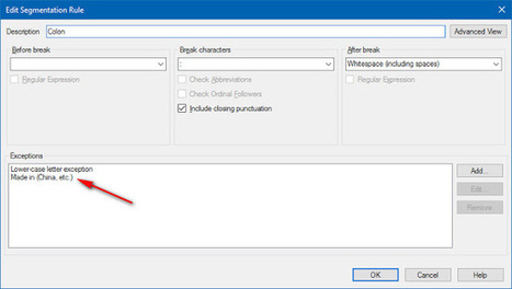 Segmentation Exceptions in SDL Trados Studio (by Nora Díaz) | Translator Tools | Scoop.it