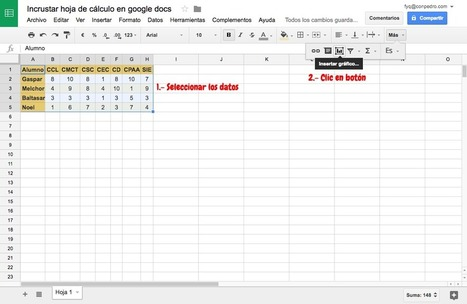 Incrustar hojas de cálculo en Google Docs | Google Tresnak | Scoop.it
